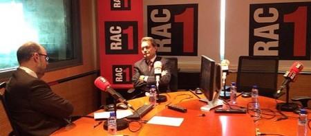 Artur Mas, als estudis de Rac1. Foto: @joanmariapique
